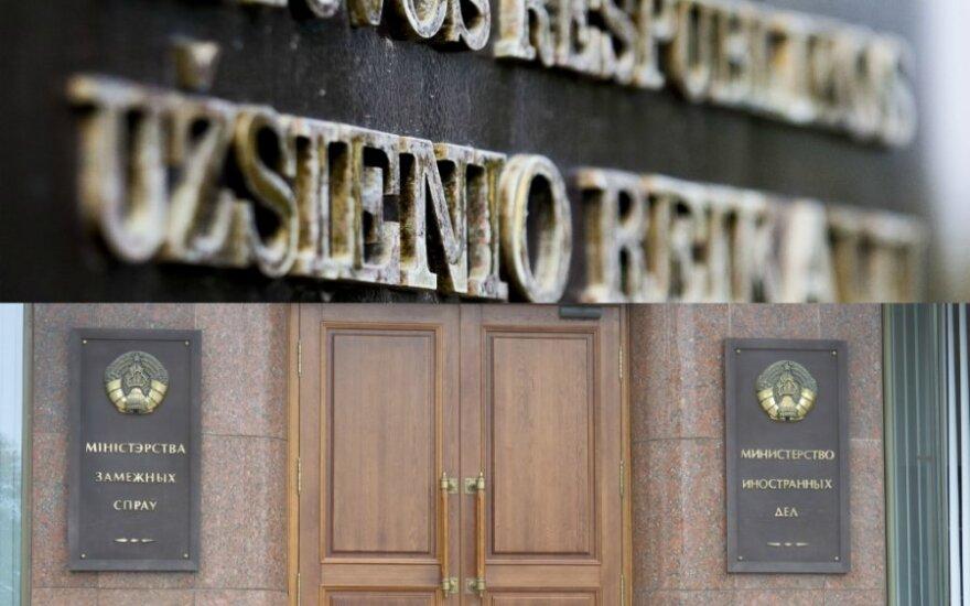 Baltarusijos URM reikalauja sumažinti Lietuvos ambasados darbuotojų skaičių