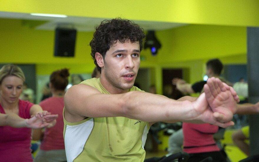 Deividas Meškauskas treniruotės metu