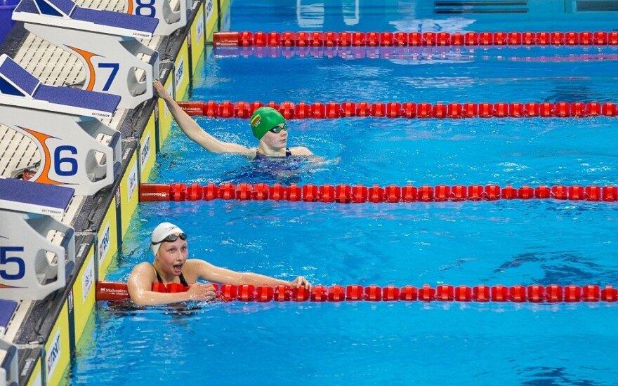 Lietuvos plaukimo čempionate – G. Gataveckaitės ir I. Jacevičiūtės rekordai