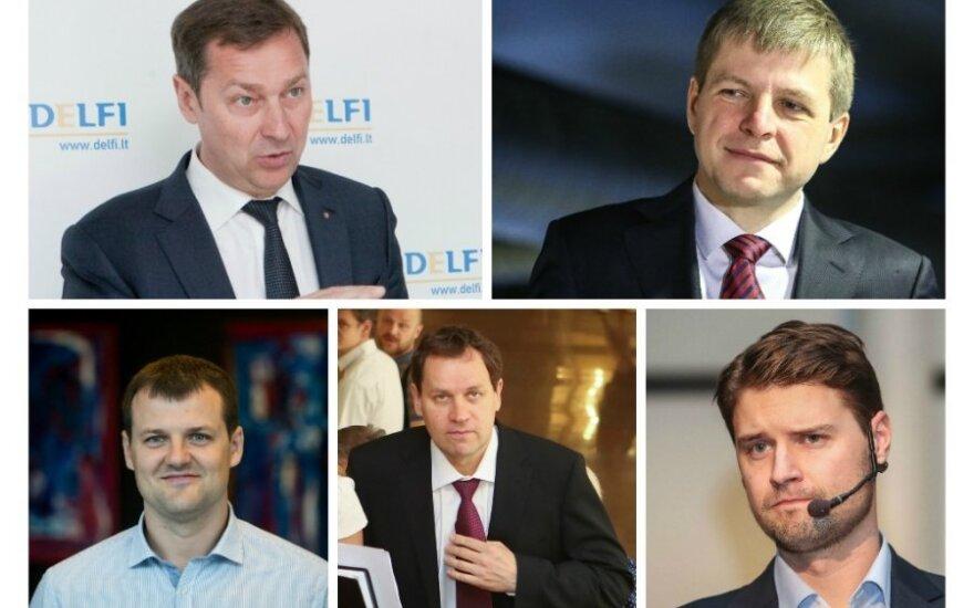 Artūras Zuokas, Remigijus Šimašius, Gintautas Paluckas, Valdemaras Tomaševskis ir Mykolas Majauskas