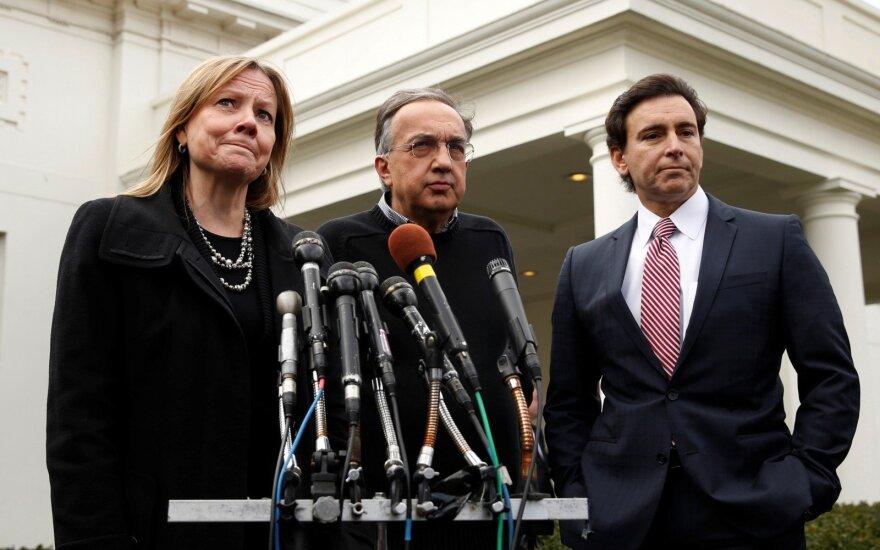 Daugiausiai uždirbančių trijulė: Mary Barra, Sergio Marchionne ir Markas Fieldsas