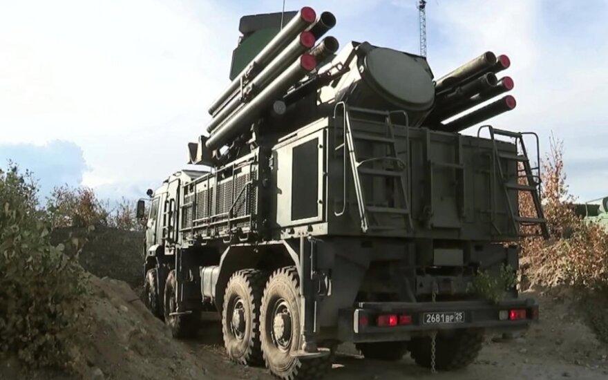 """Zenitinių raketų ir pabūklų kompleksas """"Pancir S"""""""