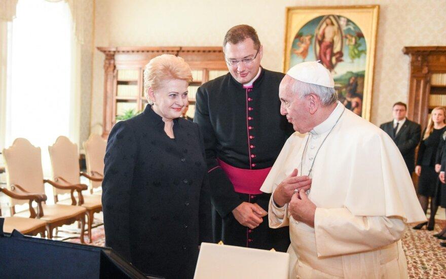 Dalia Grybauskaitė susitinka su popiežiumi Pranciškumi