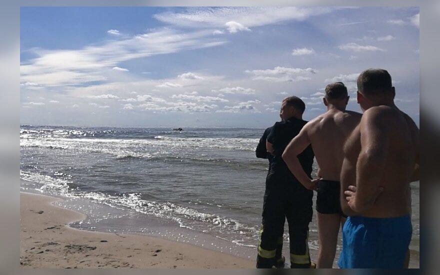Gausios gelbėtojų pajėgos Palangoje: ieškojo po vandeniu panirusio vyro