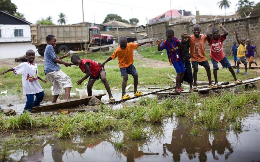 Vaikai Liberijoje
