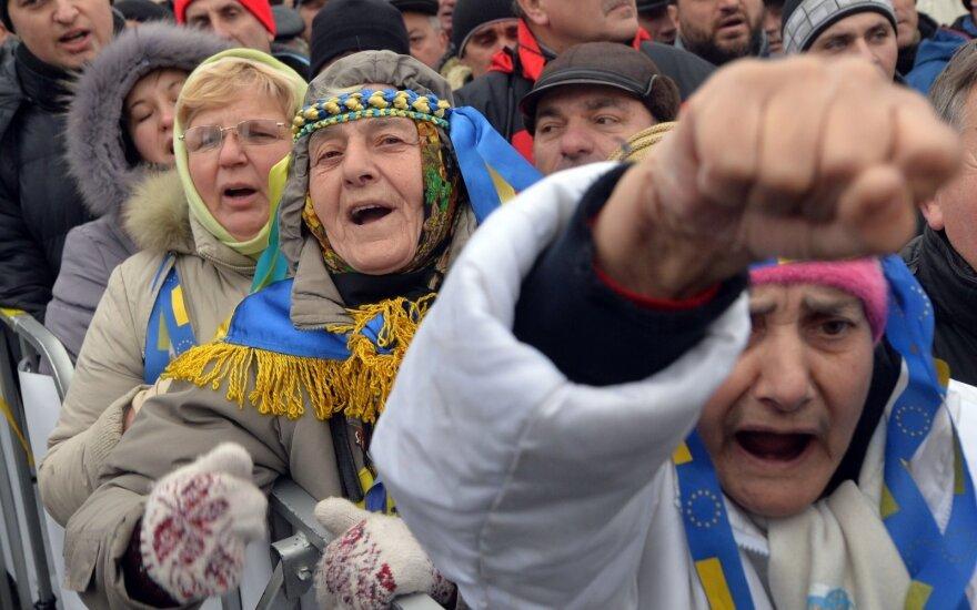 Ukrainoje - protestas prieš šalies valdžią