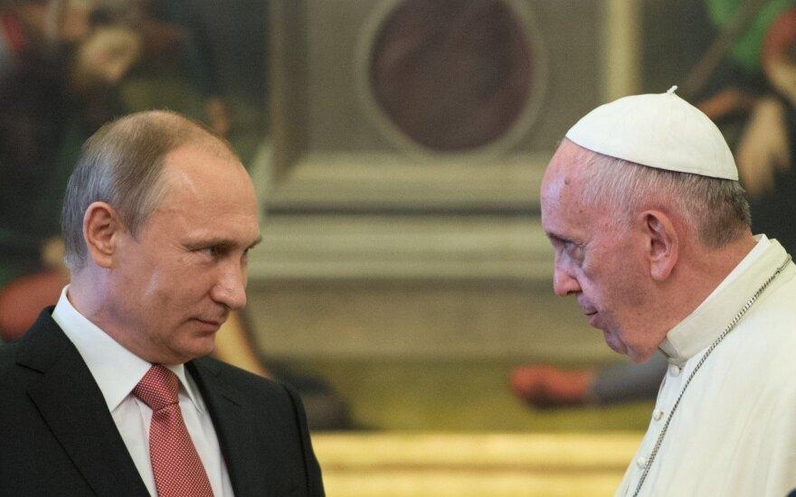 V. Putino susitikimas su popiežiumi Pranciškumi