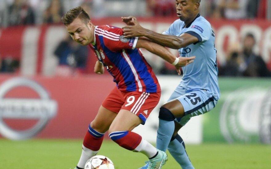 "Mario Goetze (""Bayern"")  ir Fernandinho (""Manchester City"")"