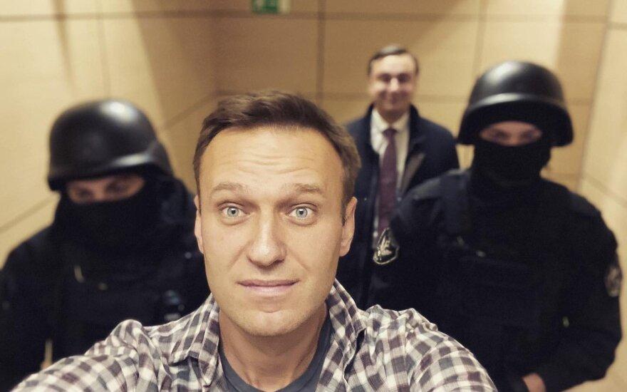 Rusijos opozicijos lyderis Navalnas jau laisvas