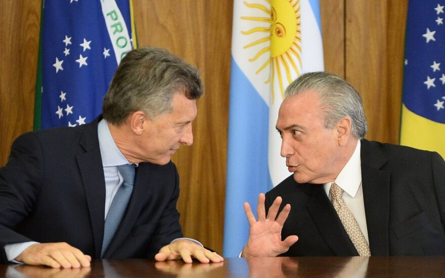 Mauricio Macri ir Michelis Temeras