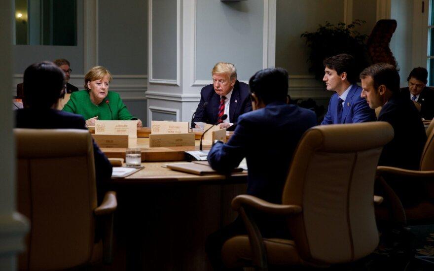 G-7 šalys pasirengusios prireikus skelbti naujas sankcijas Rusijai