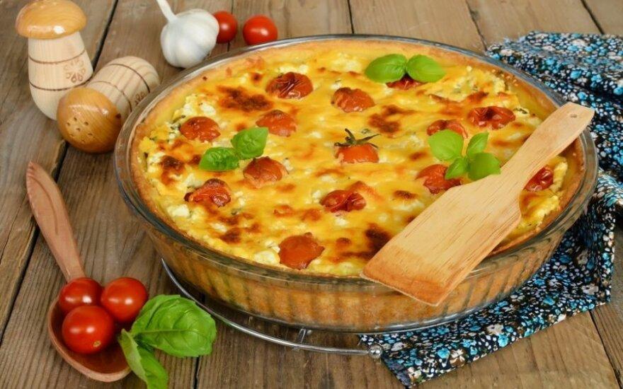 Varškės ir sūrio apkepas su sezamu