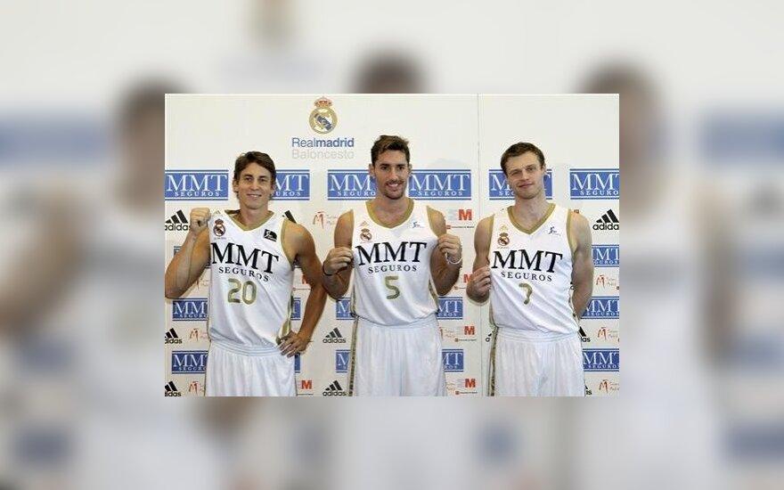 Martynas Pocius su Rudy Fernandezu ir Jaycee Carrollu