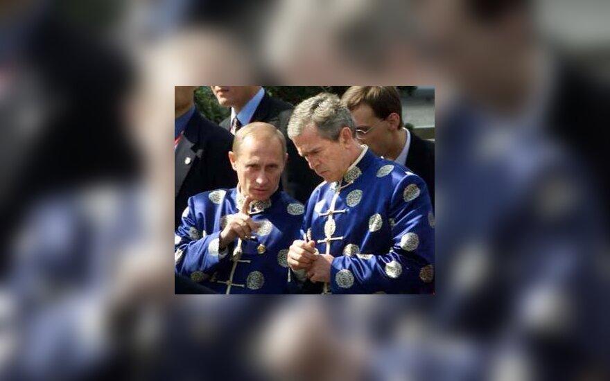 V.Putin, G.W.Bush