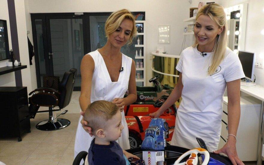 Indrė Kavaliauskaitė ir Monika Šedžiuvienė su sūnumi