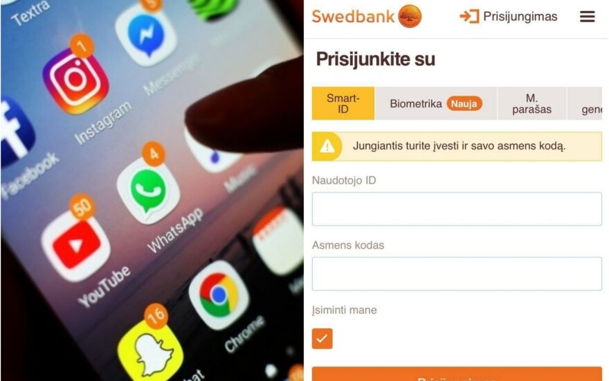 Apgaulinga SMS žinutė