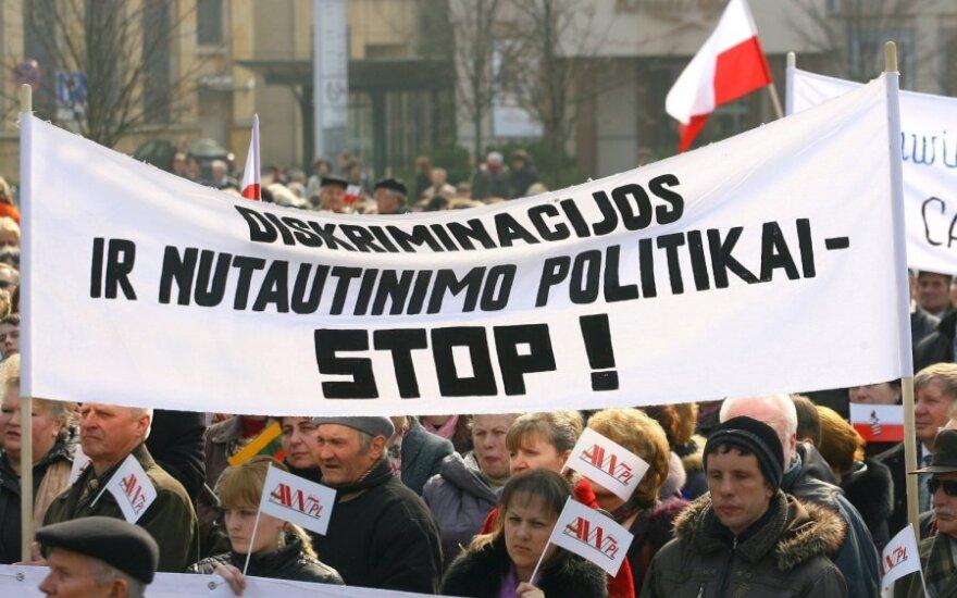 Lietuvos lenkų aktyvistų protesto eitynės ir mitingas