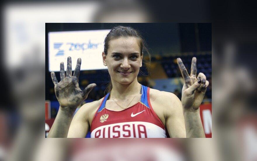 Geriausia 2008 m. sportininke pripažinta J.Isinbajeva