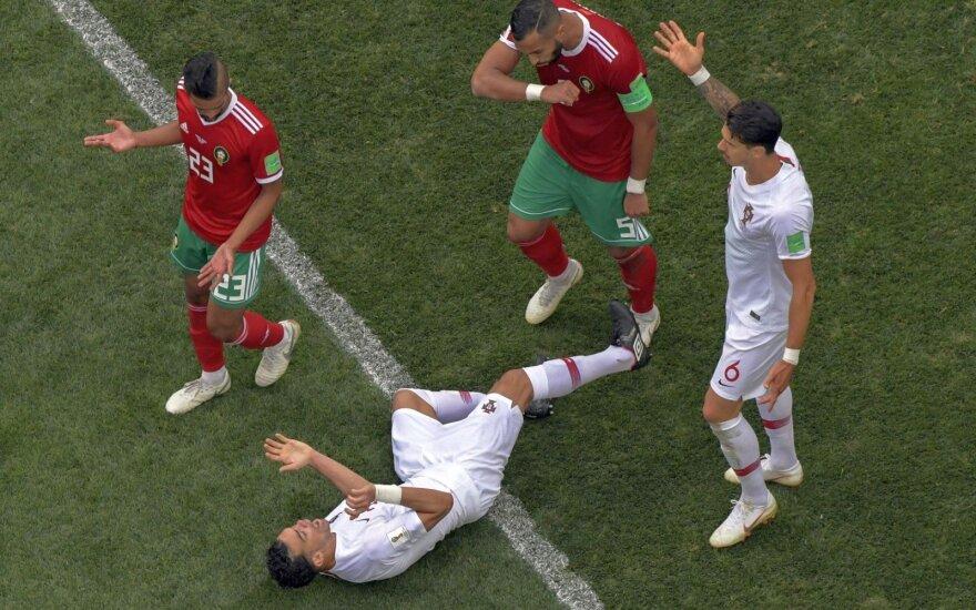 Pasaulio čempionate – gėdinga portugalo Pepe vaidyba