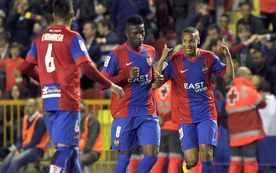 """Ispanijoje – svarbi """"Levante"""" pergalė prieš """"Espanyol"""" be G. Arlauskio"""