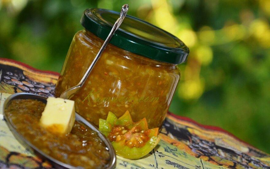 Kaip panaudoti žalius pomidorus: gardus džemas su apelsinais