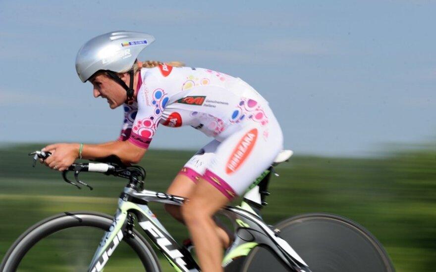 Pasaulio dviračių plento čempionato moterų grupinėse lenktynėse I. Čilvinaitė liko tik 42-a