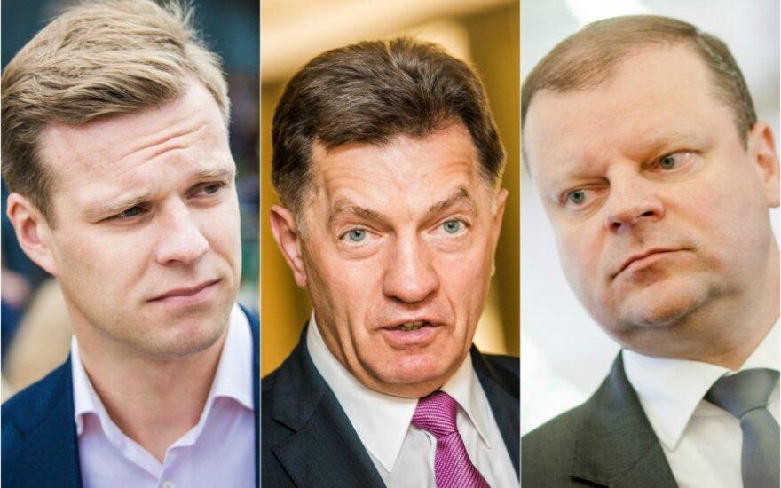 Gabrielius Landsbergis, Algirdas Butkevičius ir Saulius Skvernelis