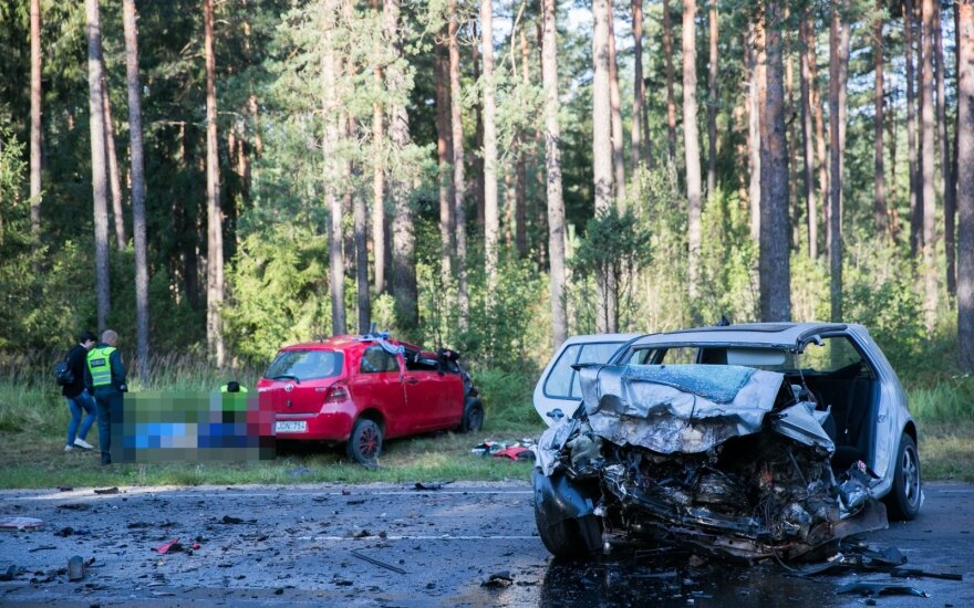 Tragiška avarija Trakų rajone (asociatyvi nuotr.)