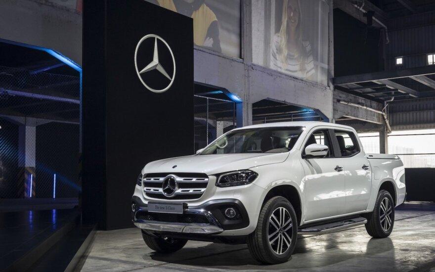 """Pristatytas naujasis pikapas """"Mercedes-Benz X"""""""