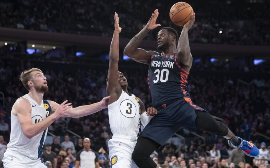 Domantas Sabonis, Aaronas Holiday ir Julius Randle'as