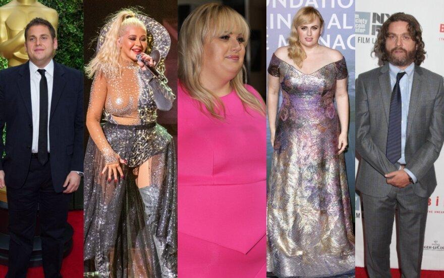 Įžymybės, kurių svorio pokyčiai buvo aptarinėjami garsiausiai