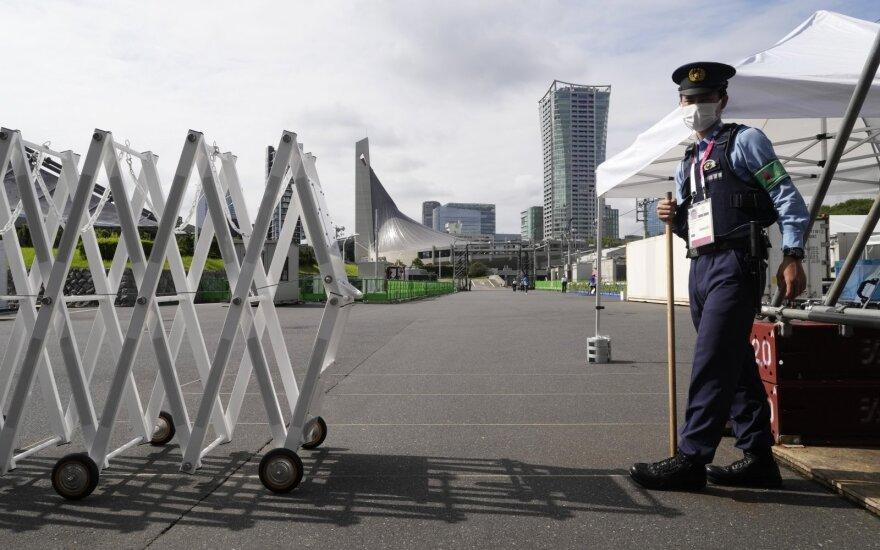Tokijo olimpinės žaidynės. Apsauga prie arenų