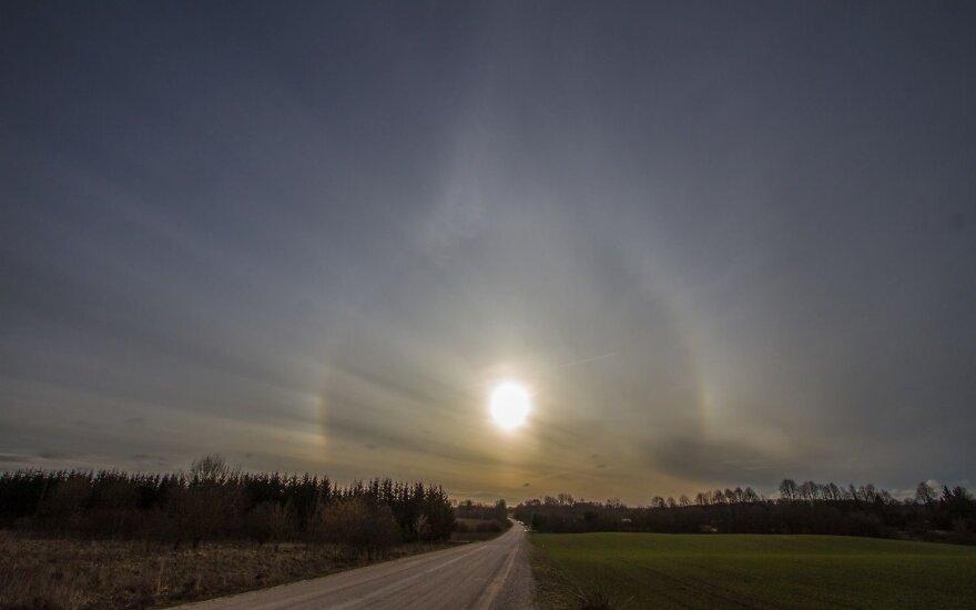 Saulės halas Kaišiadorių rajone