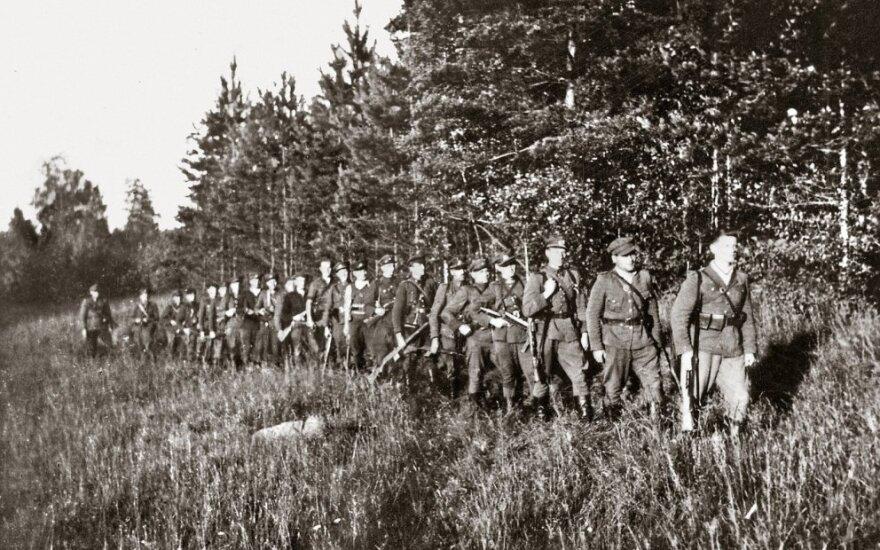 Liūto rinktinės partizanų rikiuotė