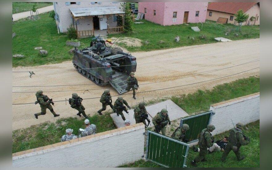 Lietuvos kariams - išbandymai Vokietijoje