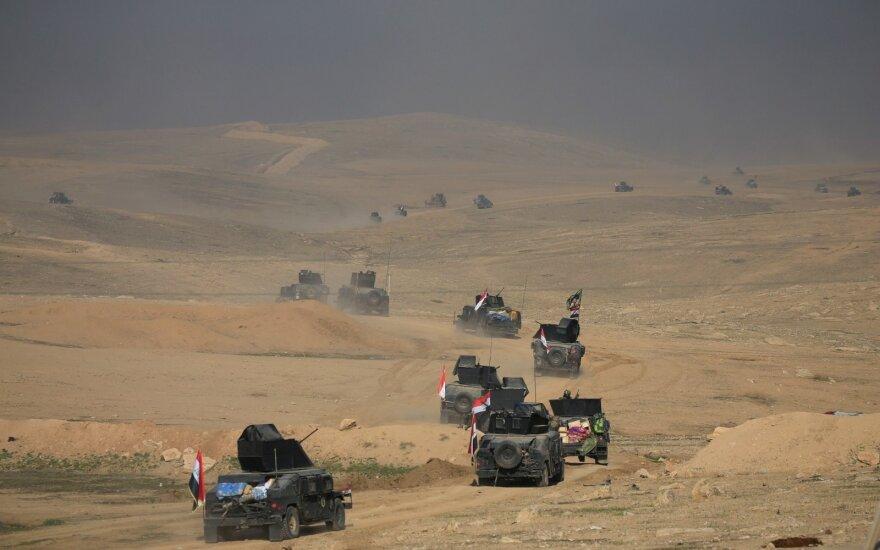Irako saugumo pajėgos Mosule užėmė pagrindinį valdžios pastatų kompleksą ir muziejų