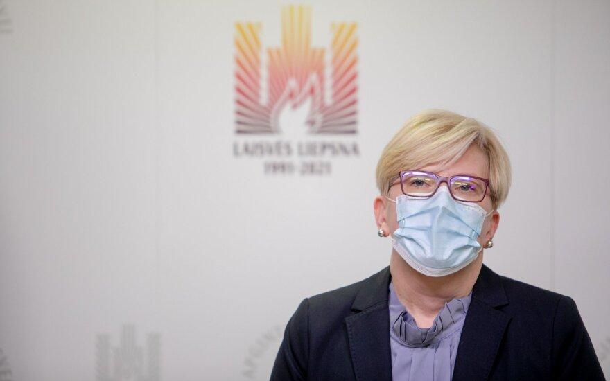 Šimonytė: apie karantino režimo pakeitimus nėra net diskusijos