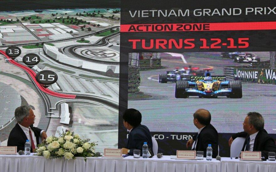 Vietnamo GP etapo pristatymas