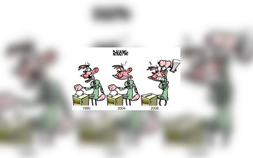 Rinkimai Lietuvoje - karikatūra
