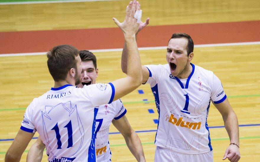 """""""Vilniaus kolegijos-Flamingo Volley"""" tinklininkai"""