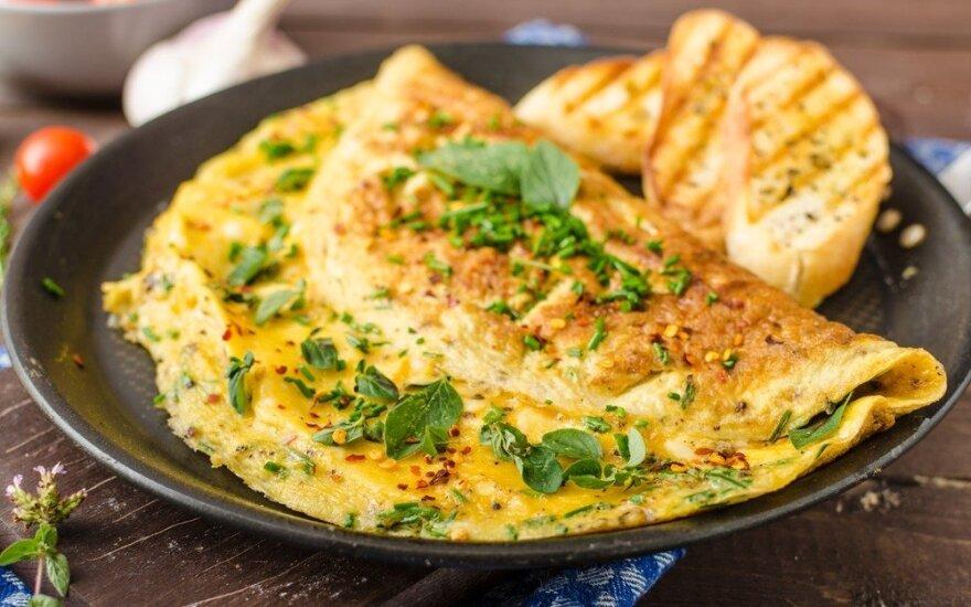 Kaip iškepti tobulą omletą