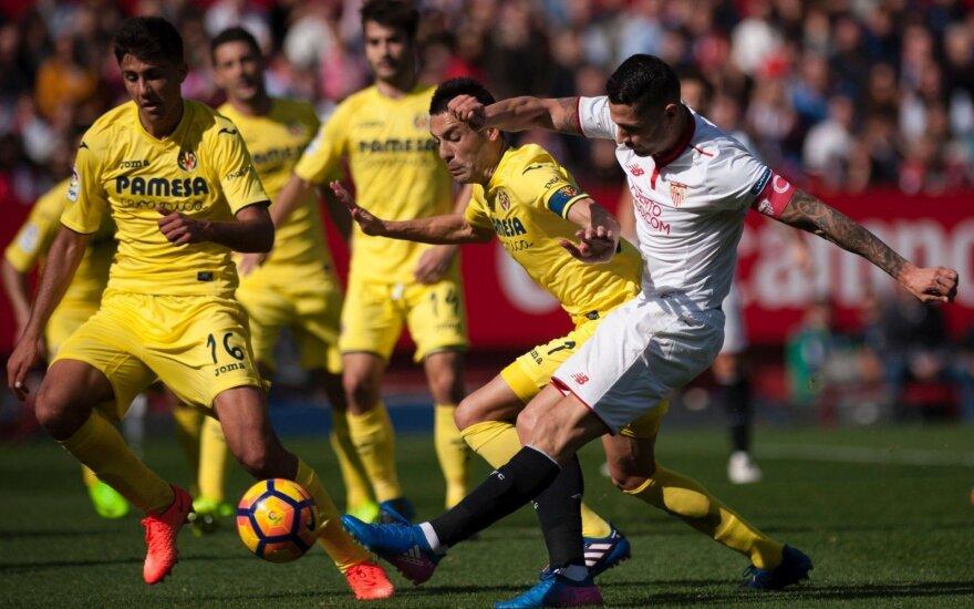 "La Liga, ""Sevilla"" – ""Villareal"" (geltona apranga) rungtynių akirmika"