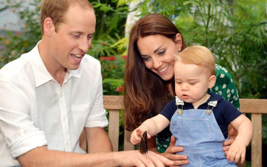 Princas Williamas ir Catherine Middleton su sūneliu George'u