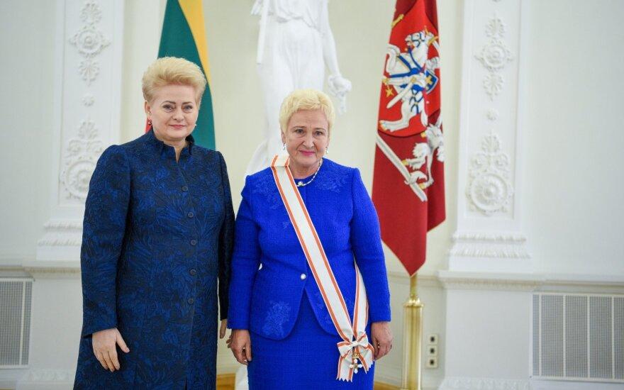 Iš Grybauskaitės – paskutinieji valstybiniai apdovanojimai