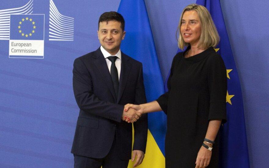Volodymyras Zelenskis, Federica Mogherini