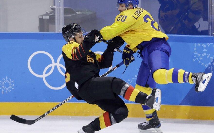 Pjongčango olimpiados ledo ritulio turnyras: Švedija – Vokietija