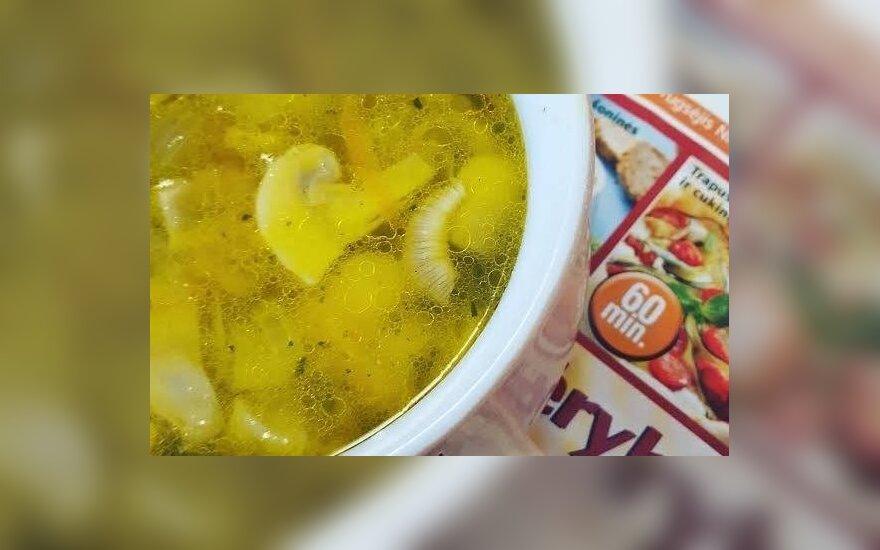 Greitai pagaminama sriuba