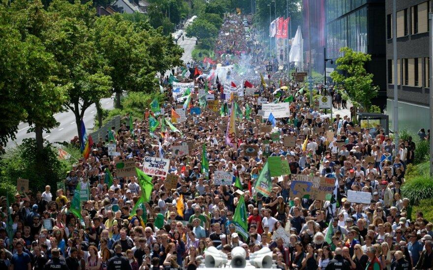 Klimato aktyvistai Vokietijoje bandė užimti anglies kasyklą