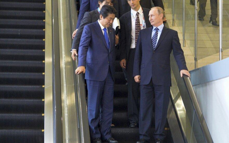 Vladimiras Putinas susitiko su Shinzo Abe