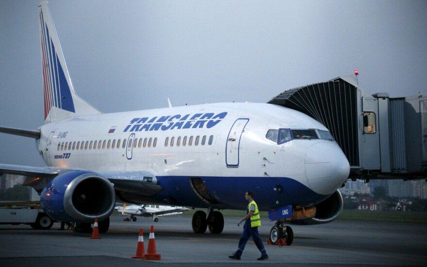 Transaero Boeing 737 lėktuvas